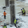 Workers in snow