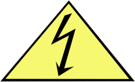 electric shock warning