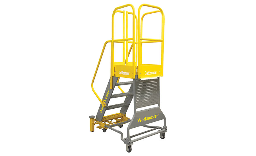 Super Heavy Duty WORKMASTER™ rolling metal ladder