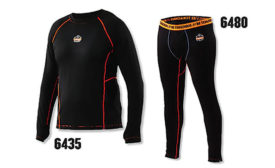 Ergodyne N-Ferno® Line: The 6435 Thermal Base Layer Long Sleeve and the 6480 Thermal Base Layer Bottoms