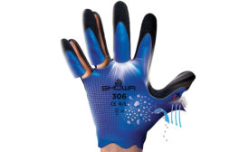 SHOWA 306 dual latex technology and 7 gauge terry acrylic inner shell for warmth plus ANSI A4 cut-resistant protection