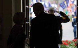 Trump silhouette image