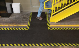 Implement a floor safety plan to prevent slips, trips & falls