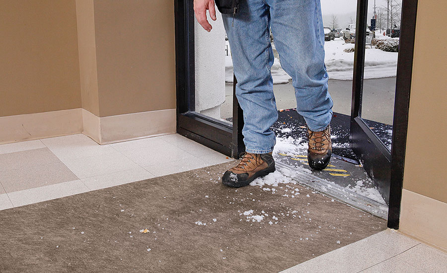 How to avoid spills and falls at entranceways