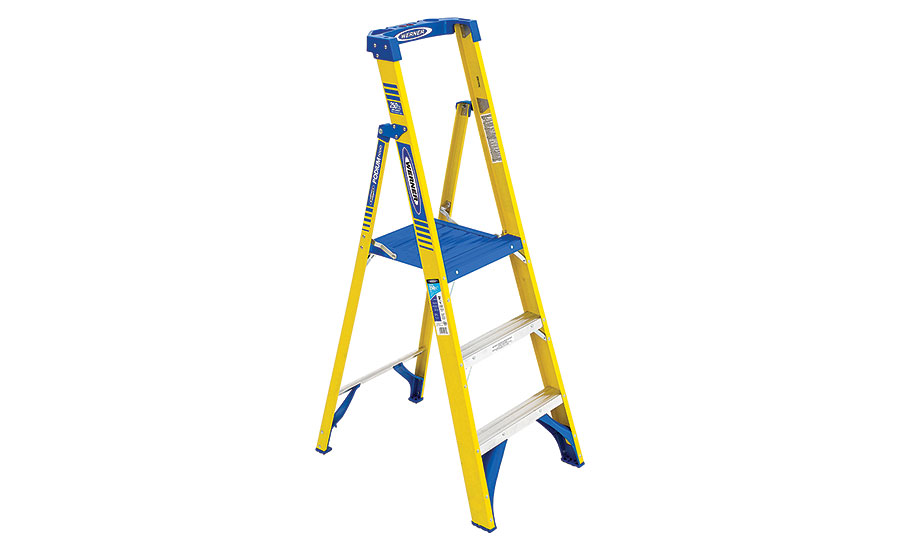 Podium fiberglass ladder