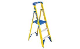 Podium fiberglass ladder