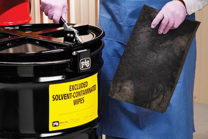 solvent-contaminated wipes