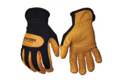 Flame-resistant mechanics glove