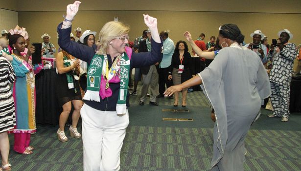 ASSE outgoing President Kathy Seabrook