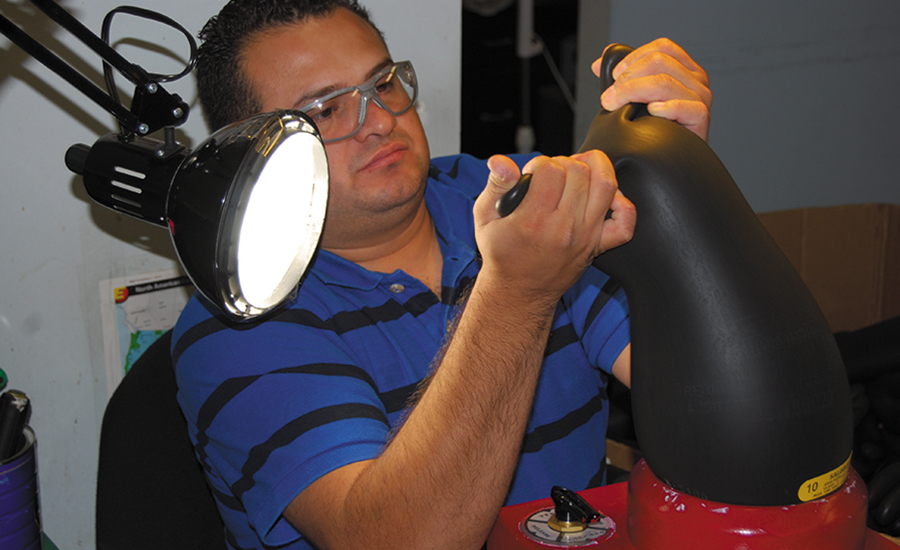 Testing High Voltage Rubber Gloves : Choose the right rubber insulating glove for task at