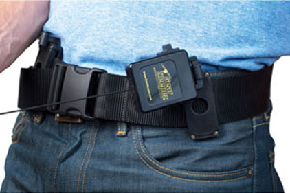 Webbing belt with lanyard