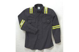 Enhanced-visibility FR garments