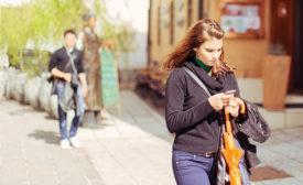 preoccupied pedestrians