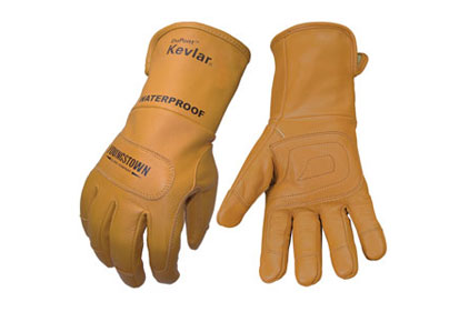 Waterproof leather glove