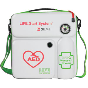 AED & EMERGENCY OXYGEN  IN WALL CASE