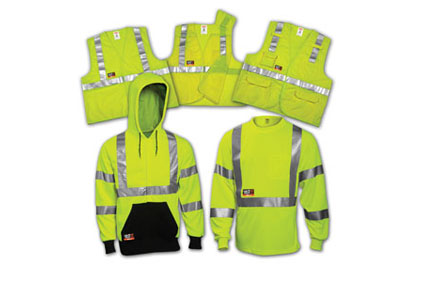 High-vis FR apparel