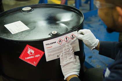 HazCom/GHS container labeling