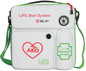 AED emergency oxygen unit