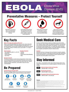 Accuform Signs Ebola information posters