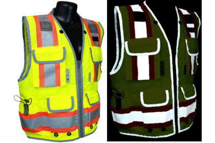 SV55 Vest during day (left) and vest at night (right).