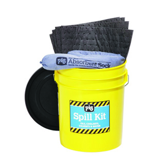 Spill Kit in 5-Gallon High-Visibility Economy Container