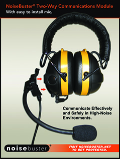 NoiseBuster ANR Earmuff with Add-on Communications Module