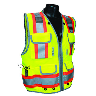 SV55 Class 2 Heavy Woven Two Tone Engineer Safety Vest
