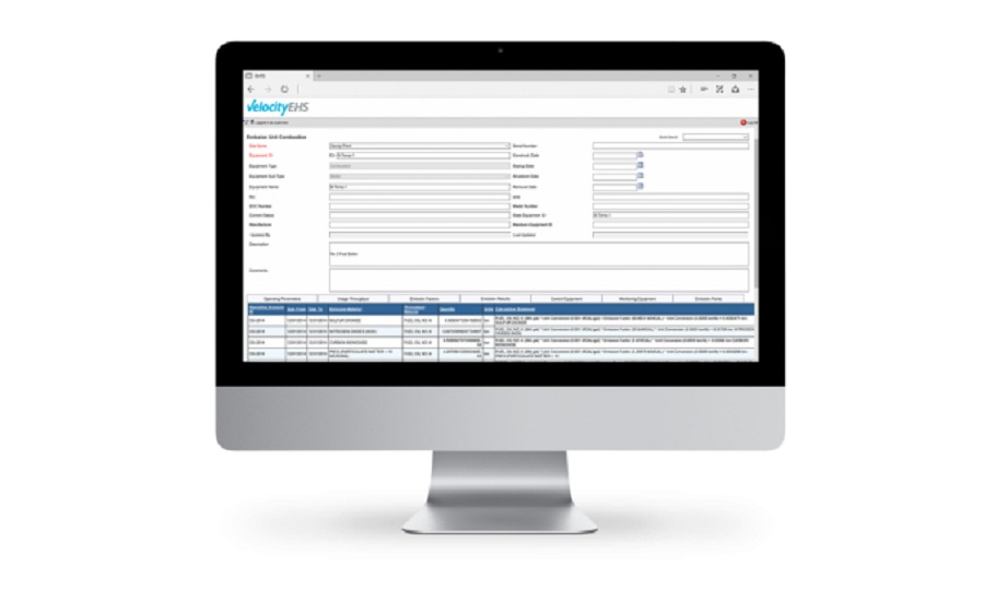 VelocityEHS's Environmental Management Software