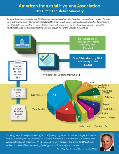 2013 State Legislatice Summary infographic