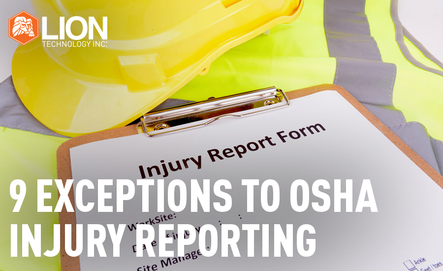 9 Exceptions to the OSHA Injury Reporting Standard- Main Image