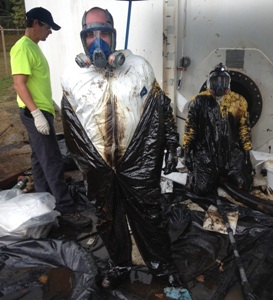 DuPont Tyvek Dirty Work Contest Grand Prize Winner Chad Grant, Marion Environmental, Cohutta, Ga.