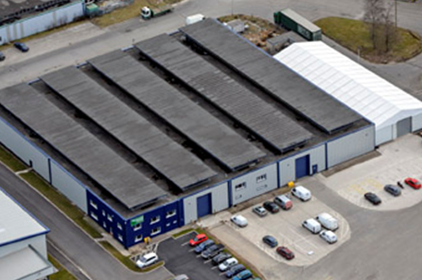 Aerial view of the new Camfil APC Heywood (UK) manufacturing plant