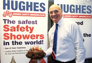 Tony Hughes Managing Director of Hughes Safety Showers marks another important milestone in the company's progress.