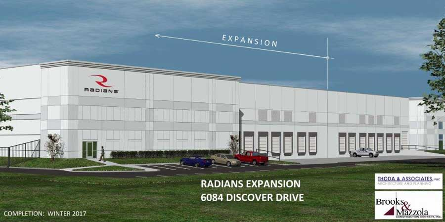Radians® expands Memphis operations with warehouse addition at 6084 Discover Drive