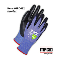 Magid® D-ROC® GPD482 AeroDex™ 18-Gauge Extremely Lightweight Polyurethane Coated Work Glove – Cut Level A4