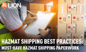 Whitepaper 2019 05: Hazmat Shipping Best Practices- Lion Technology, Inc.