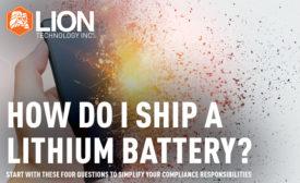 How do I ship a lithium battery?