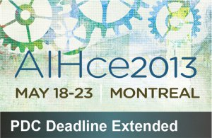 AIHce 2013 PDC deadline extended