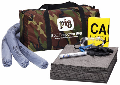 PIG Spill Kit in Camo Duffel Bag