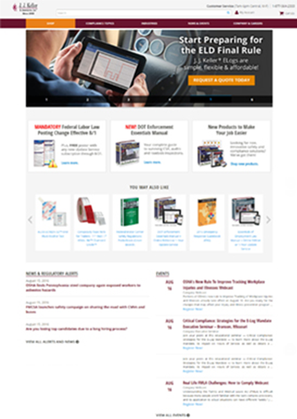 New JJKeller com offers superior online experience with