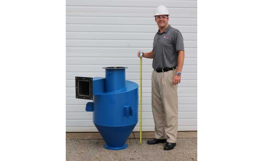 Dust Hound dust collector is as efficient as cyclones half its size