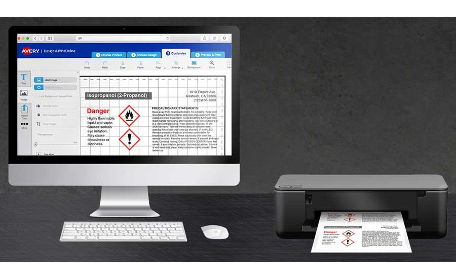avery products and sitehawk partner for easy automated ghs labels