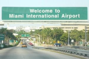 Miami International Airport sign