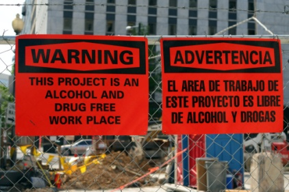 drugs and construction sites don't mix