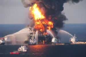 BP Macondo explosion in Gulf