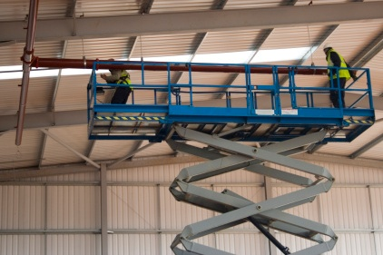 scissors lift 4221?1333998492 what fall protection is required for scissor lifts? 2012 04 13 ishn