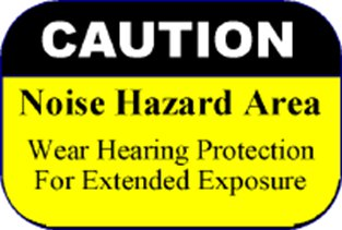 Noise hazard warning sign