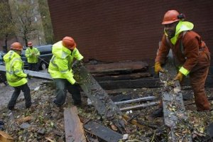 Hurricane Sandy clean up efforts