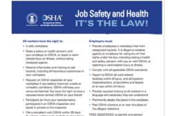 OSHA poster